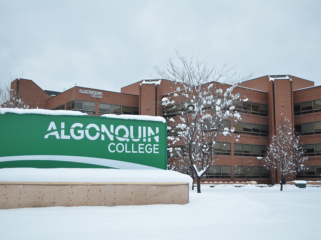 Algonquin College's name is a sort of tribute, a nod to it being situated on Algonquin First Nation unceded territory. This video, featuring Kitigan Zibi Anishinabeg Chief Gilbert Whiteduck and Algonquin President Kent MacDonald features a brief explanation of the name's origin