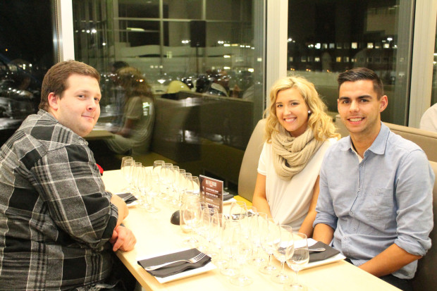 Connor Patterson, Joylene Weaver and Eric Vieria attended the beer and food event on Nov. 4.