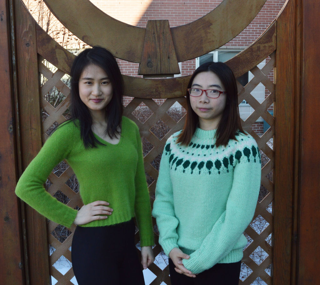 Chen Yajin, left, and Xiong Manyi, right, two first-year Chinese students in the business program. Being in a one-year program, they had no chance to celebrate Chinese New Year at Algonquin
