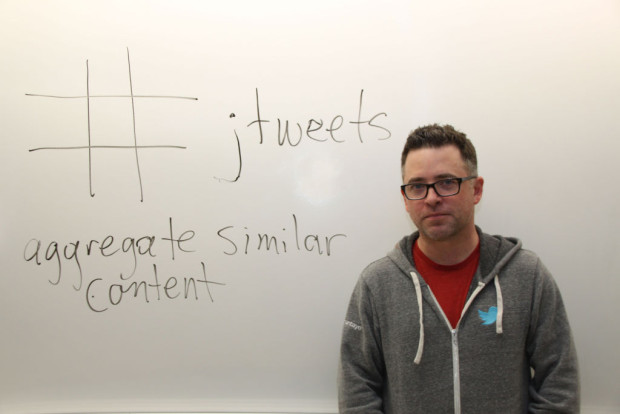 Twitter Canada's Steve Ladurantaye came to Algonquin to give a seminar on  using Twitter as journalists. A hashtag was made for the discussion.