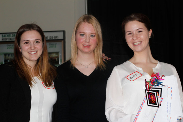 From left, Alyssa Parks, a volunteer, Anna Arapova, one of the organizers, and Briegh Grant, a volunteer raised $23,000 for the Children's Wish Foundation.