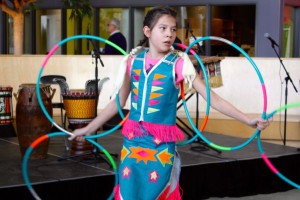 First Nations hoop dancer Maxine Beaudoin, from Kitigan Zibi, Que.