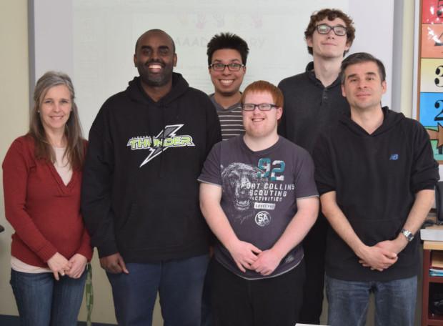 From left, Claudine Trepanier Darieh Farah, Alexander,  Devin Waldie, Eric Yemensky and Antonio Tripudio.