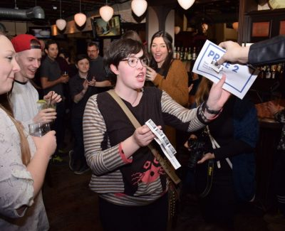 Pub night helps graphic design students edge toward fundraising goal