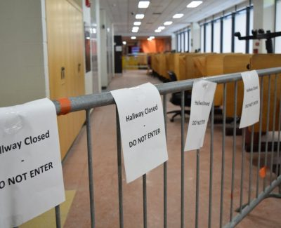 Burst pipe in C-building closes financial aid office