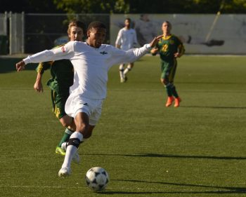 Men's soccer takes two at home