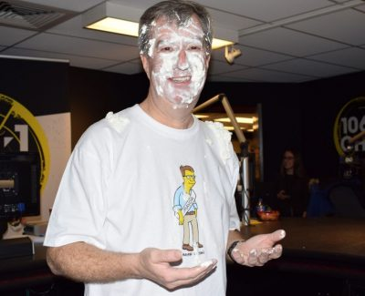 It's all pastry politics as mayor takes pie in the face for homelessness
