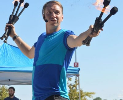 Street performers turn up the heat at blistering Buskerfest