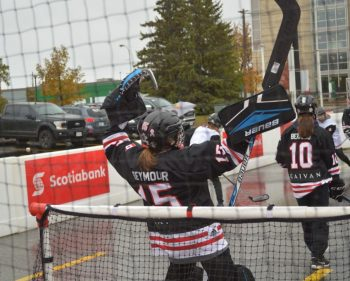 Scotiabank ball hockey rink a hit at Hometown Hockey event