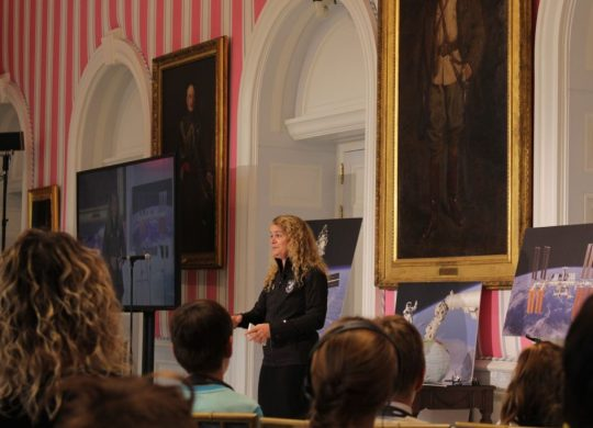 Governor General Julie Payette celebrates the second year of her mandate with students