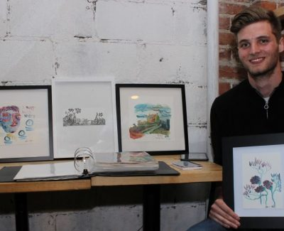 Algonquin business student looks to art to up his game