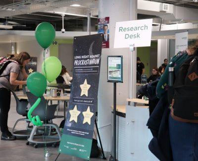 Support services' event helps students battle procrastination