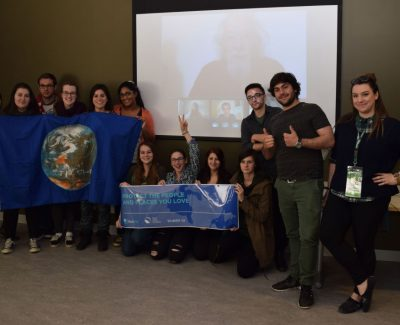 'Earth Allies' Skype with David Suzuki