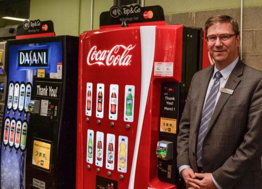 Vending machines moved for renovations