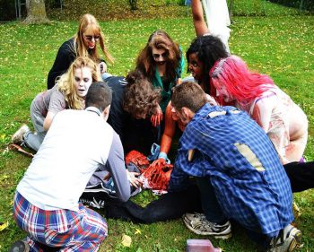 Zombie run leaves students dead tired
