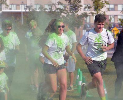 Green highlights AC colour run Saturday