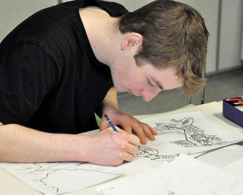Comic club brings art relief