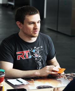 Steven Dunkelman, tournament participant, plays in the Algonquin Magic Grand Prix Trial. The first place winner took home a two round bye to the Grand Prix Toronto, a weekend long tournament at the end of November with prizes of up to $3,500.