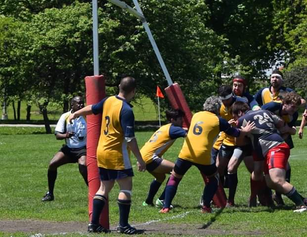 Daniel Harris playing rugby with the Ottawa Wolves. Image supplied by Daniel Harris.