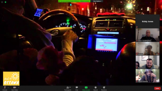 Attendees take a virtual uber to Escape Manor complete with upbeat music.