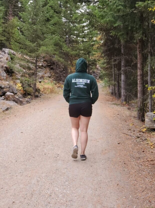 Aubertin exploring a Canadian National Park.
