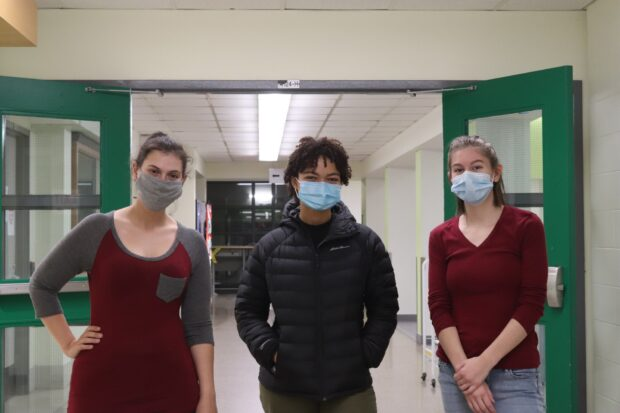 Alex Graf (left), Jessica Mapila (middle) and Dara Palmer (right) are biotechnology students who shared their past Halloween experiences
