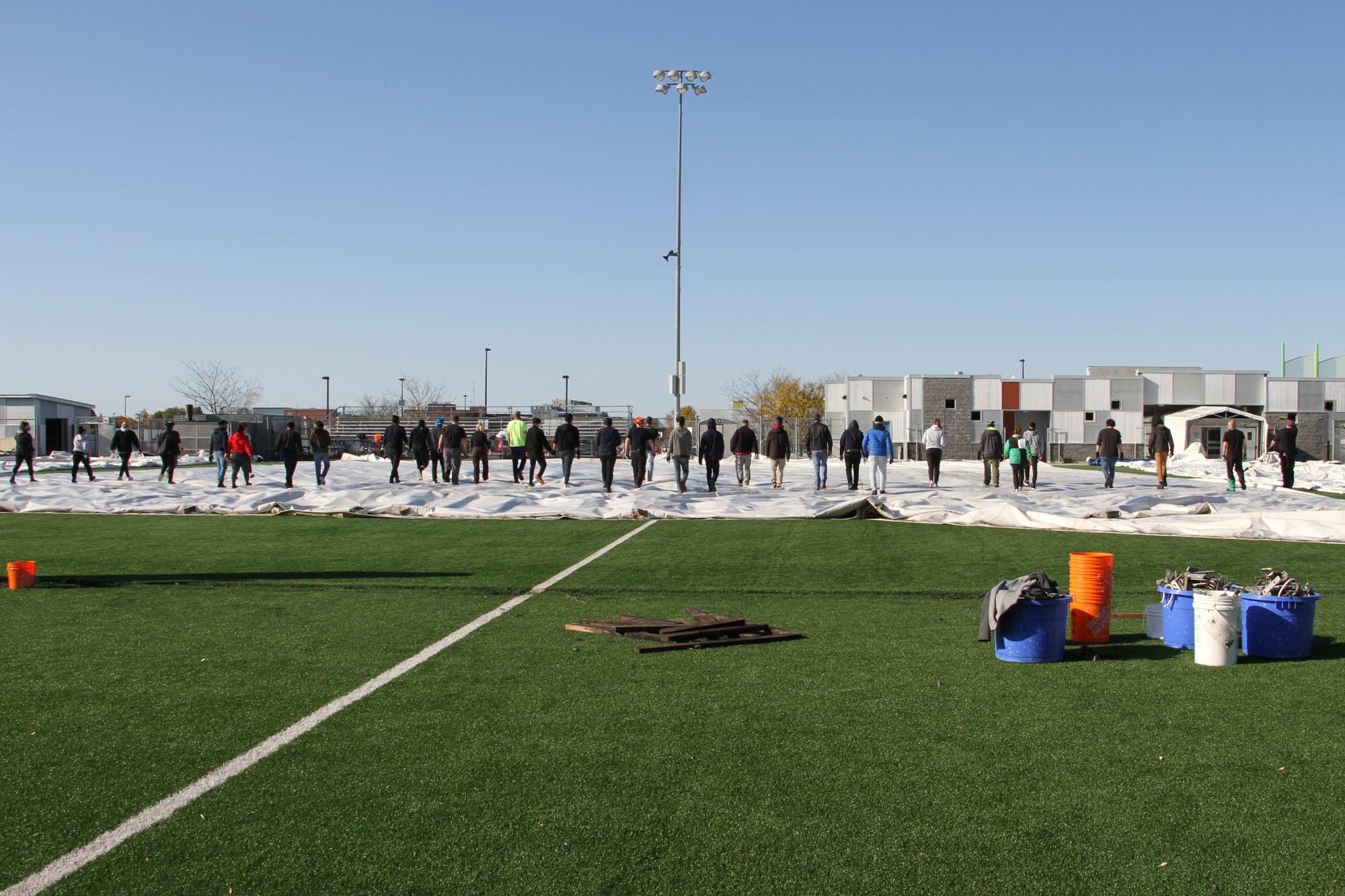 """""""I think Saturday went incredibly well. We were under staffed, but we made it work,"""" said Jenny Duval, sports facility operator and event coordinator."""