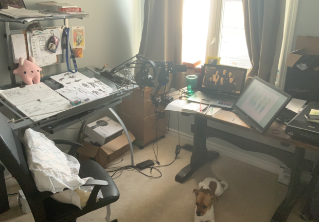 Meghan Garrioch's home workspace.