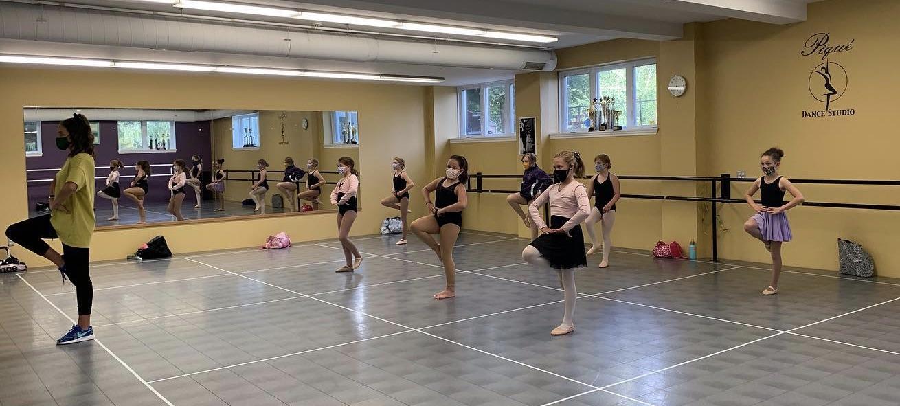 Socially distant dance classes resume at Pique Dance Studio.