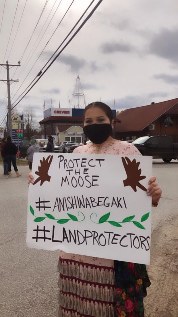Kitigan Zibi community member at Moose Moratorium.