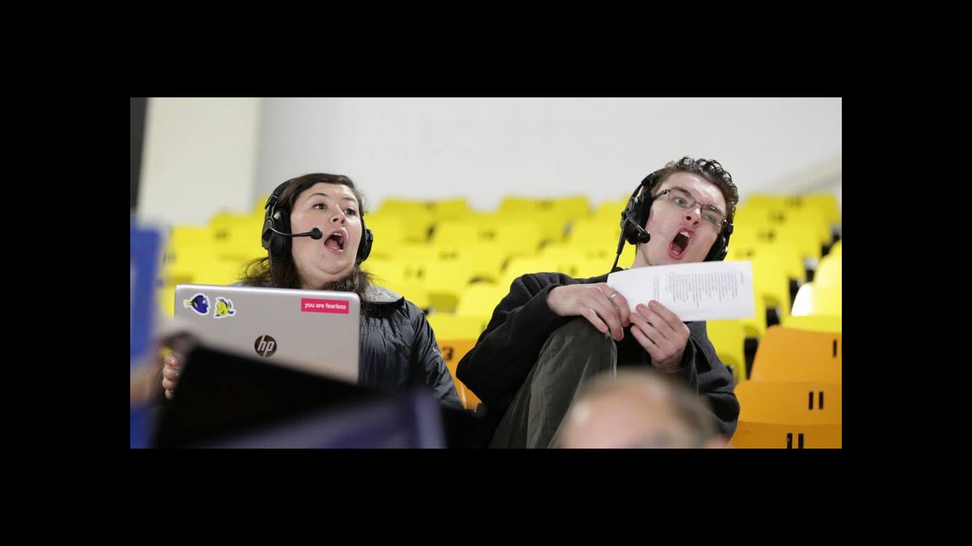 Brian Fraser(right) had a passion for sports and brought that in his play-by-play commentary for Nepean Raiders games