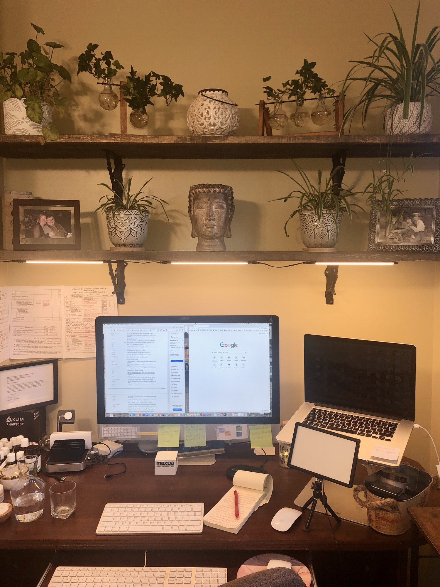 Fitzpatrick's home office is where she can work without being disturbed.