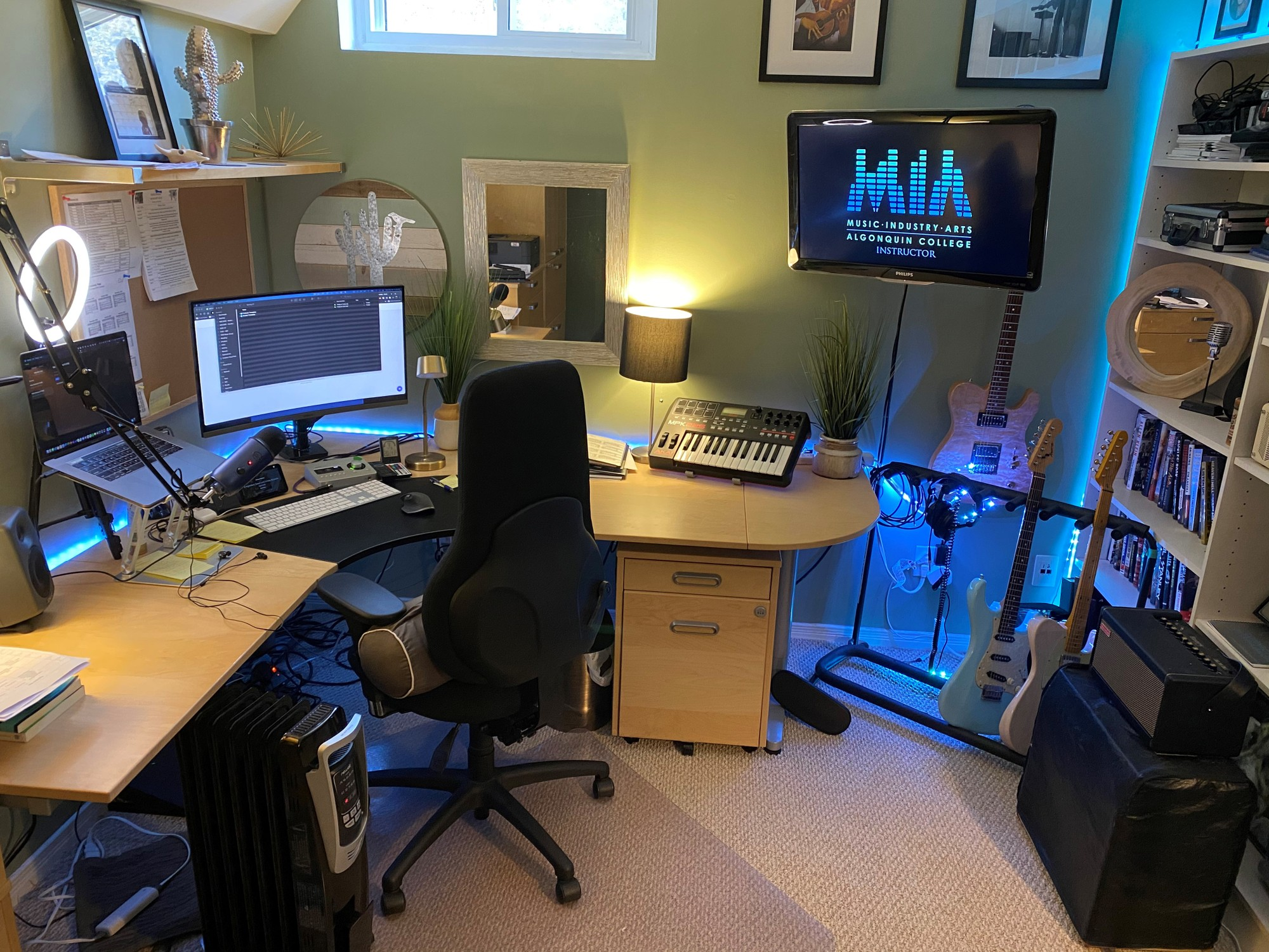 Colin Mills created his home office when he first moved to seem friendly and open.