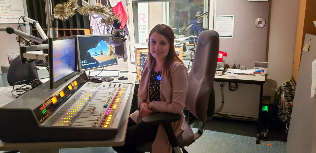"""""""In the Radio Broadcasting program, the students are responsible for running CKDJ 107.9 and AIR AM 1700... It was a small struggle at first getting the students back on air after the lockdown started,"""" said Jessica Bilsson."""