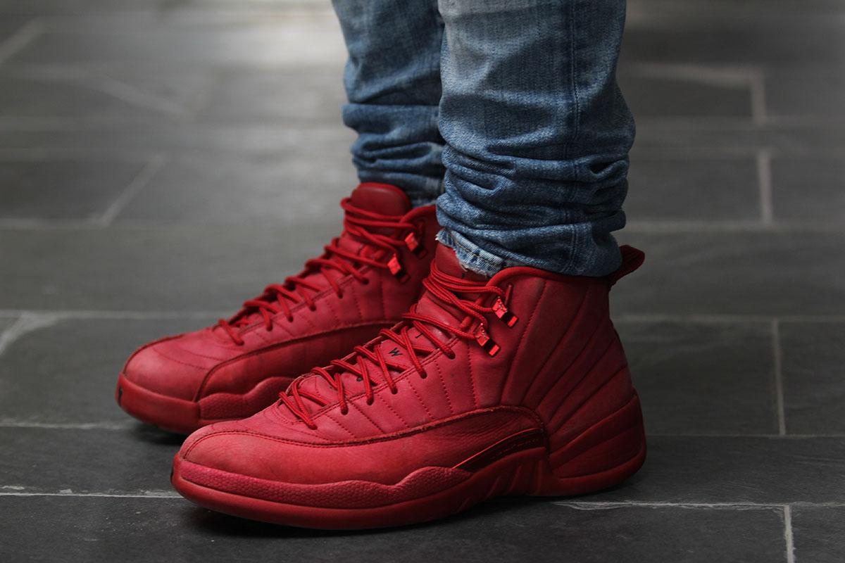 """Mike Chiasson wearing Nike Air Jordan 12 Retro """"Gym Red"""""""
