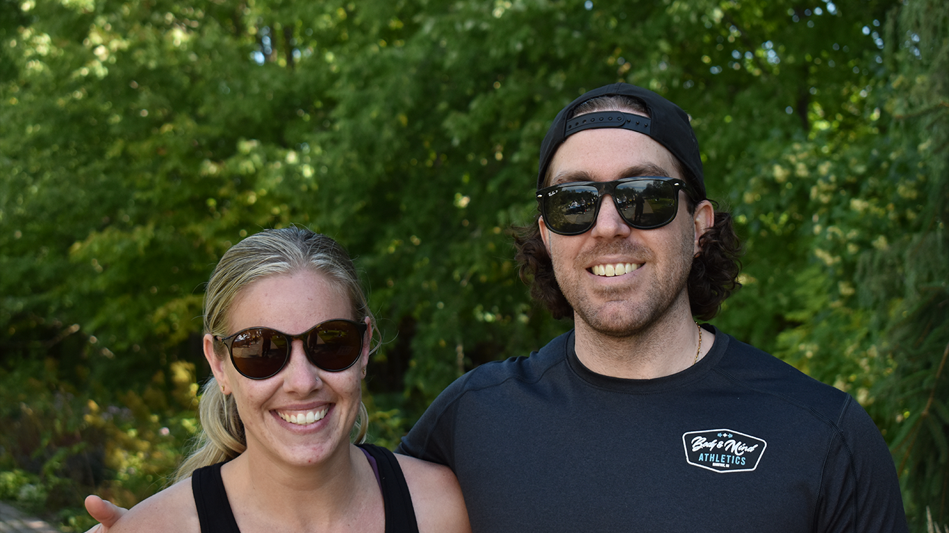 Brett Mercanti and Katie Campbell, trainers at Body and Mind Athletics were never dissuaded or discouraged by all these lockdowns and were happy to join this event to give back to their community.