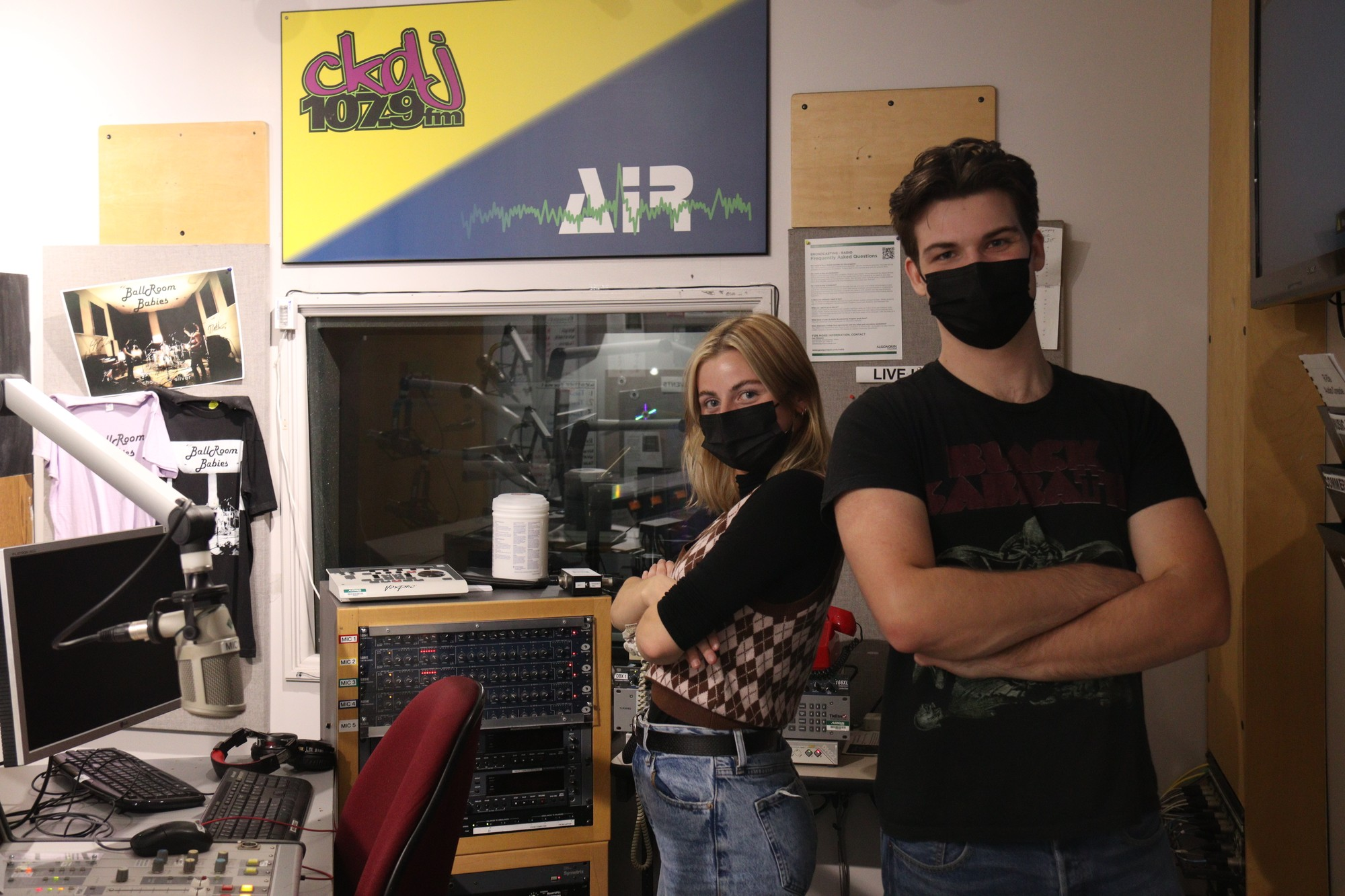 Hosts Tamara Condie and Jeremy Morse begin the night's election coverage on CKDJ 107.9 at 9:30 p.m.