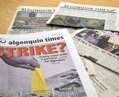 Students' Association orders Algonquin Times closed during strike