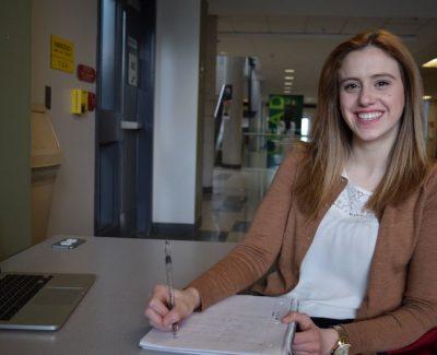 University grad finds career through college