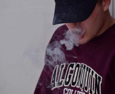 School stress goes up in smoke