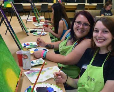 Different strokes at AC Hub's Paint Nite