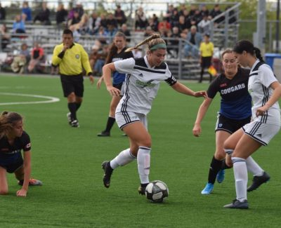 Women dominate visiting Cougars, collect win in soccer home opener