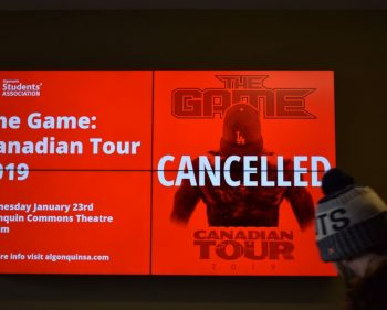 The Game denied entry into Canada for second time; tour, Algonquin show cancelled