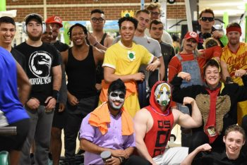 AC Fitness zone hosts Halloween bench press competition