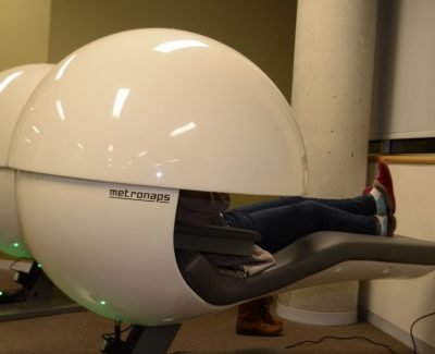 New Algonquin nap pods lets students catch some zzzs between classes