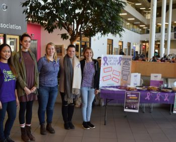 Colour purple fits nicely into students' awareness campaign