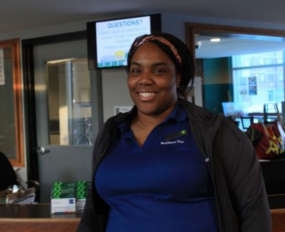 Residence front desk staff helps students' experience