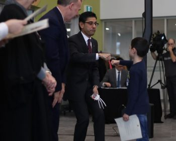 New Canadian citizens take their oaths at Algonquin College