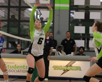 Algonquin Thunder women's volleyball take down the George Brown Huskies