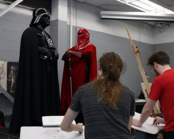Animation students visit a galaxy far, far away